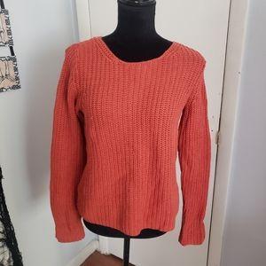 J Jill orange knit sweater. Size XS